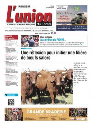 La couverture du journal L'Union du Cantal n°3102 | août 2017
