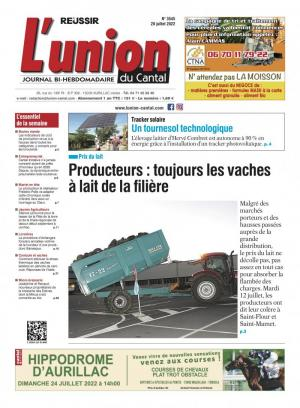 La couverture du journal L'Union du Cantal n°3209 | octobre 2018