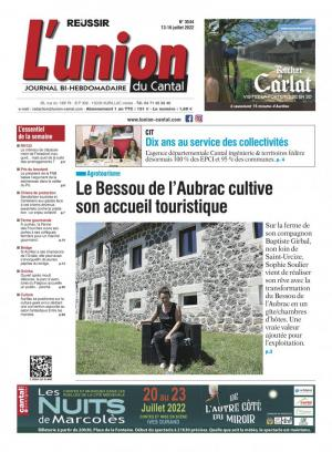 La couverture du journal L'Union du Cantal n°3187 | juillet 2018
